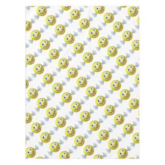 Cartoon Tennis Ball Man Tablecloth