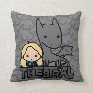 Cartoon Thestral and Luna Character Art Cushion