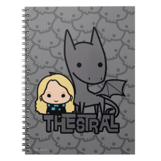 Cartoon Thestral and Luna Character Art Spiral Notebook