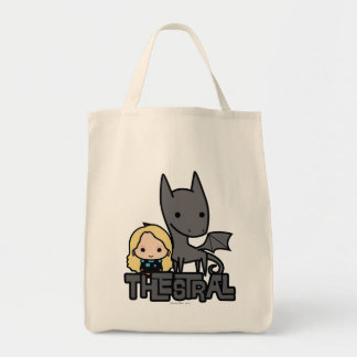Cartoon Thestral and Luna Character Art Tote Bag