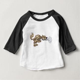Cartoon Three Little Pigs Big Bad Wolf Blowing Baby T-Shirt