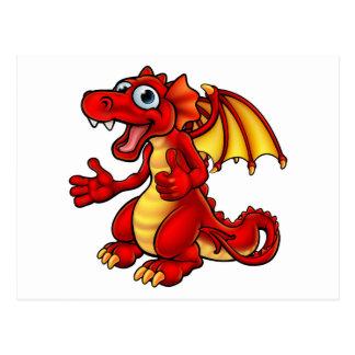 Cartoon Thumbs Up Dragon Postcard