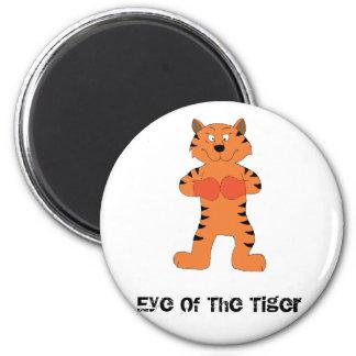 Cartoon Tiger Boxer Refrigerator Magnet