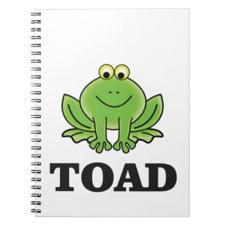 cartoon toad yeah spiral notebook