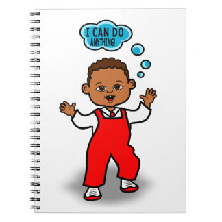Cartoon Toddler's First Steps Motivational Journal Spiral Notebooks