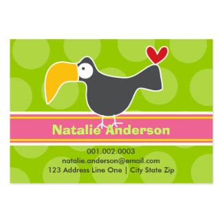 Cartoon Toucan Kid Photo Profile / Name Card Business Card Template