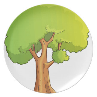 Cartoon Tree Plate