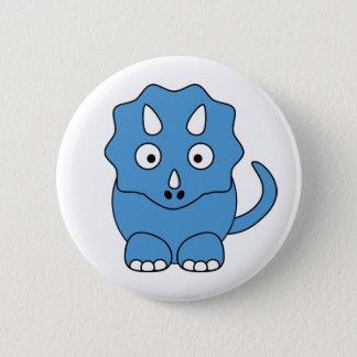 Cartoon Triceratops (blue) 6 Cm Round Badge