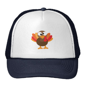 Cartoon Turkey Trucker Hat