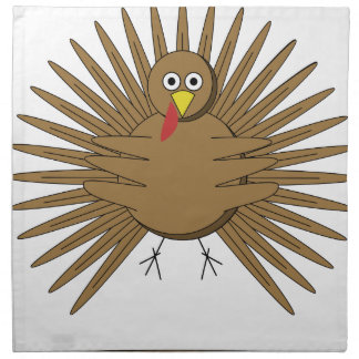 Cartoon Turkey Napkin