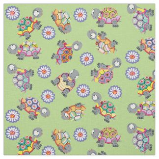cartoon turtles fabric