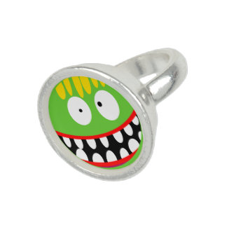 cartoon ugly monster smiley