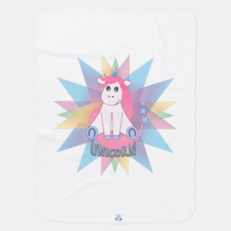 Cartoon Unicorn Baby Blanket