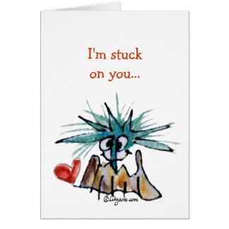 Cartoon Valentine Barnacle Heart Greeting Card