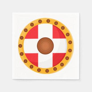 Cartoon Viking Shield Disposable Napkin