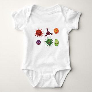 Cartoon Viruses Baby Bodysuit