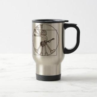Cartoon Vitruvian Rocker Stainless Steel Travel Mug
