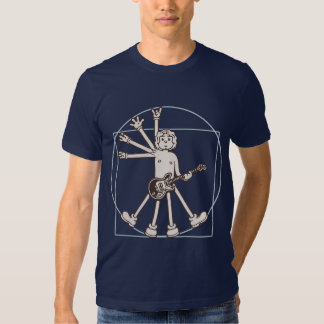 Cartoon Vitruvian Rocker T-shirt
