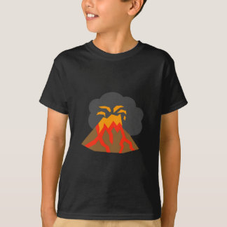 Cartoon Volcano Erupting Lava and Smoking T-Shirt