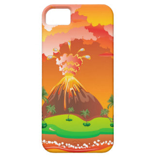 Cartoon Volcano Eruption 2 Case For The iPhone 5