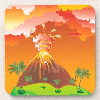 Cartoon Volcano Eruption 2 Coaster