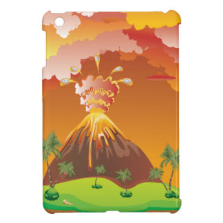 Cartoon Volcano Eruption 2 Cover For The iPad Mini