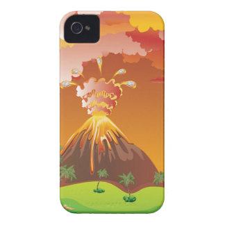 Cartoon Volcano Eruption 2 iPhone 4 Cover