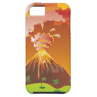 Cartoon Volcano Eruption 2 iPhone 5 Cover