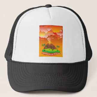 Cartoon Volcano Eruption 2 Trucker Hat
