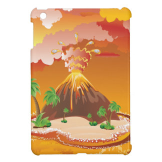 Cartoon Volcano Eruption Cover For The iPad Mini