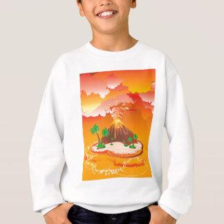 Cartoon Volcano Eruption Sweatshirt