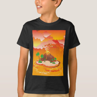 Cartoon Volcano Eruption T-Shirt