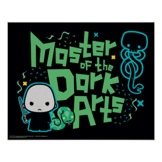 Cartoon Voldemort - Master of the Dark Arts Poster