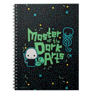 Cartoon Voldemort - Master of the Dark Arts Spiral Notebook