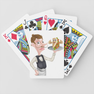 Cartoon Waiter and Thumbs Up Kebab Bicycle Playing Cards