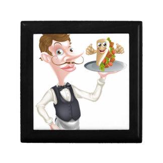 Cartoon Waiter and Thumbs Up Kebab Gift Box