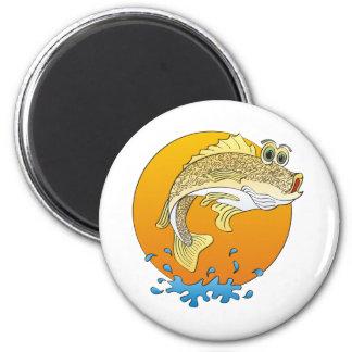 Cartoon Walleye Magnet