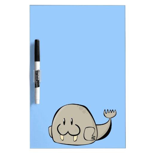 Cartoon Walrus Dry-Erase Whiteboards