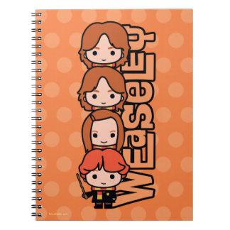 Cartoon Weasley Siblilings Graphic Notebook