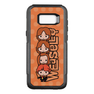 Cartoon Weasley Siblilings Graphic OtterBox Commuter Samsung Galaxy S8+ Case