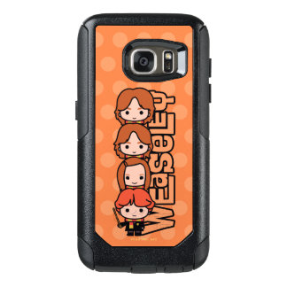 Cartoon Weasley Siblilings Graphic OtterBox Samsung Galaxy S7 Case