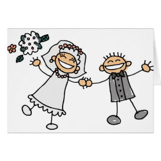 Cartoon Wedding Reception Save The Dates Greeting Card