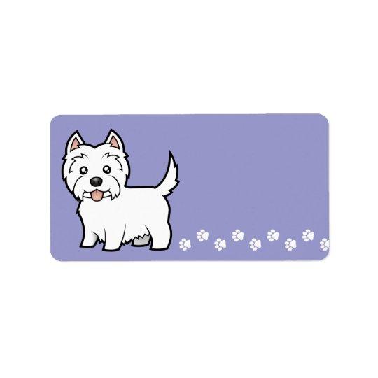 Cartoon West Highland White Terrier Address Label