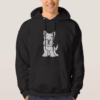 Cartoon Westie hoodie