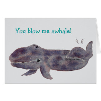 Cartoon Whale Baby Thank You Card