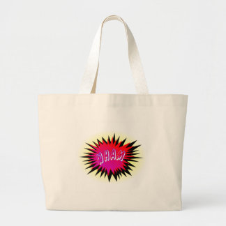 Cartoon Wham Large Tote Bag