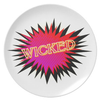 Cartoon Wicked Dinner Plate