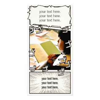 "Cartoon wind Photo Card ""gogogogogo"""