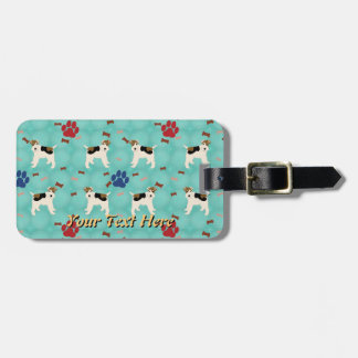 Cartoon Wire Fox Terrier Tag For Bags