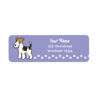 Cartoon Wire Fox Terrier Return Address Label